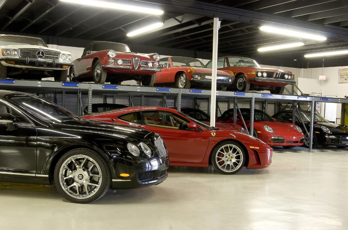 Bentley car storage, Ferrari F430 storage, exotic car storage