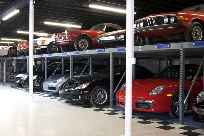 Mercedes car storage, Ferrari car storage, Porsche car storage